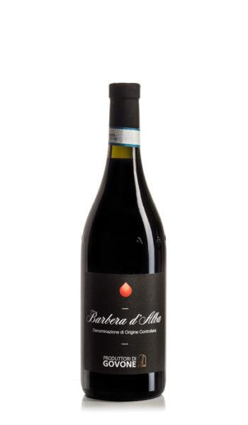 bottiglia di vino rosso barbera d'alba