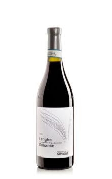 bottiglia di vin rosso dolcetto d'alba